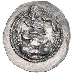 SASANIAN KINGDOM: Valkash, 484-488, AR drachm (4.12g), GW (Jurjan), ND