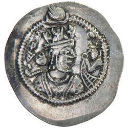 SASANIAN KINGDOM: Zamasp, 497-499, AR drachm (4.13g), WH (Veh-Ardashir), year 2