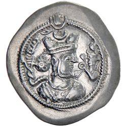 SASANIAN KINGDOM: Zamasp, 497-499, AR drachm (4.02g), MY (Mishan), year 2