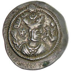 SASANIAN KINGDOM: Zamasp, 497-499, AR drachm (4.02g), AW (Ahwaz), year 2