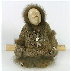 Eskimo Bone Sculpture - Rich Vies(?)