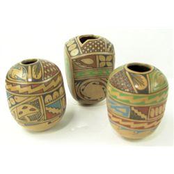 3 Mata Ortiz Pottery Jars