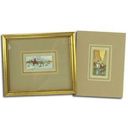 2 Original Watercolors - Ron Stewart