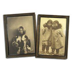 2 Framed Eskimo Photographs