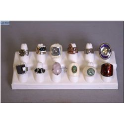 Selection of designer rings including sterling silver