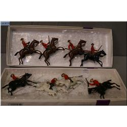 Two boxes of Britain's Metal Model mounted RCMP soldiers