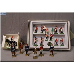 """A selection of lead soldiers including Britains """"The Green Howards colour party in original box, a m"""