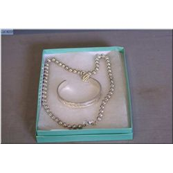 Two pieces of sterling silver jewellery including  bracelet and necklace both marked Tiffany and Co.