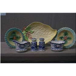 Selection of porcelain collectibles including Carletonware, German cream and sugar,  semi-porcelain