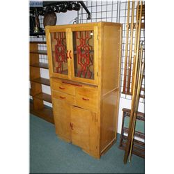 1950's Canadiana maple kitchen cabinet