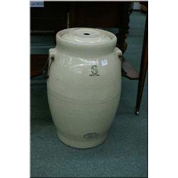 A six gallon Medalta stoneware butter churn, note missing stick