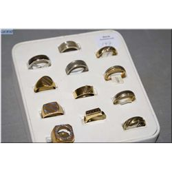 A selection of Jeweller's brass samples rings, 12  count