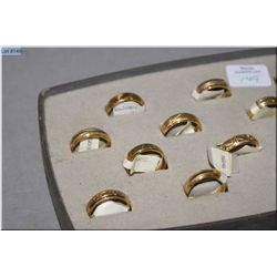 A selection of Jeweller's brass sample rings, 14 count