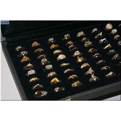 A case of Jeweller's brass ring samples, 72 count