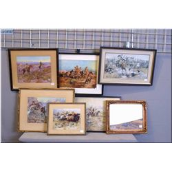 A selection of Western motif Russell prints