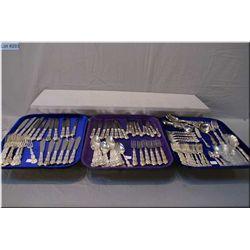 A large selection of Birks Regency plate  silver plate flatware including dinner knives,  forks, tea