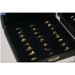 Two boxes of Jeweller's brass ring sample, 48 count