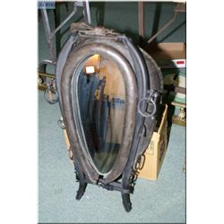 Vintage horse collar with mirror