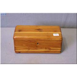 A vintage salesman's sample of a solid cedar blanket box by Lane  Cedar Chest,  Knechtels Ltd.