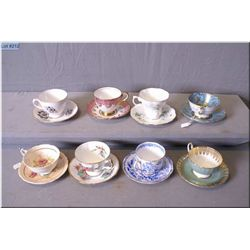 Seven china cups and saucers including Royal Albert, Paragon etc.