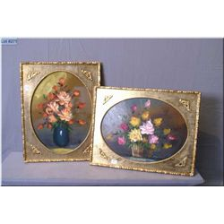 A pair of gilt framed still-lifes, both signed  Angela