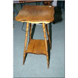 Two tier Canadiana side table