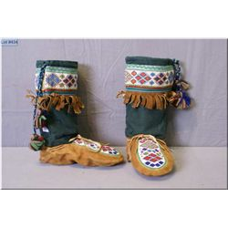 A pair of beaded mukluks