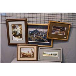 A selection of framed prints including Bev Doolittle, Isabelle Levesque etc.