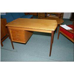 Danish made teak single pedestal desk