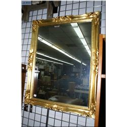 Large gilt framed wall mirror