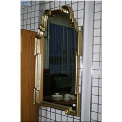 Guilt framed wall mirror