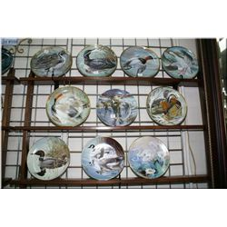 Ten duck motif collector's plates