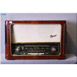 """A vintage West German Telefunken """"Superheterodyne"""" Opus 7 Hi-Fi system, serial # 082177, extra tubes"""
