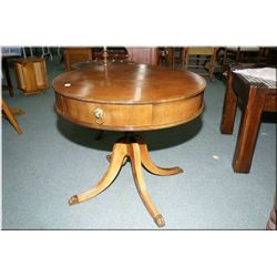A mid 20th century Regency style,  mahogany single pedestal occasional table