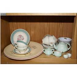 A selection of collectibles including six Susie  Cooper cups and saucers, large Royal Winton dish, p