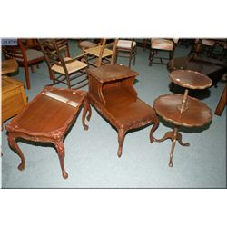 Three mid 20th century occasional tables including a matching coffee and step table plus a single  p