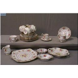 A selection of Royal Albert Petitpoint china including eight lunch plates, five cups and  saucer, de