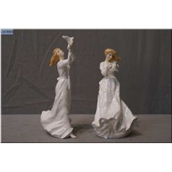 """Two Royal Doulton figurines """"Thank You"""" HN3390 and """"Thinking of You"""" HN3124"""