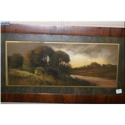 A vintage framed pastel on paper picture by Chandler