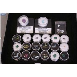 A large selection of cut gemstones including  topaz, amethyst, emeralds, opals etc.