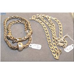 Two men's sterling silver neck chains