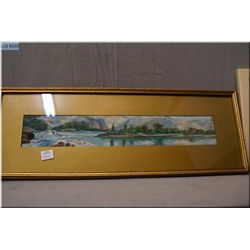 "Two vintage framed original pictures including gilt framed oil on cardboard ""Rapids on the Fraser  R"