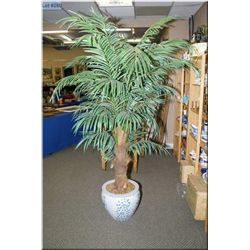 "A large artificial houseplant in an Oriental motif plant pot 81"" in height"