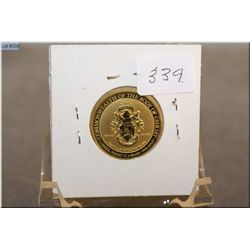 A  999.9 pure gold skekel coin weighing 11.4grams