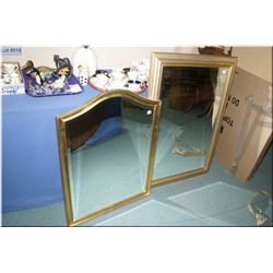Two gilt framed and bevelled wall mirrors