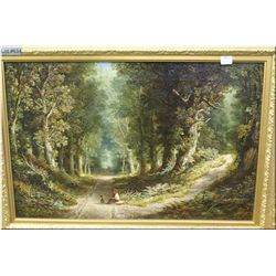 """A framed oil on canvas """" On the Dart, near Totnes""""  16"""" X 24"""" signed by artist M.E.Dockree"""