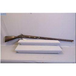 "English Percussion Half Stocked Market Gun [ Name on lock illegible] .8 Ga w/49"" bbl. [ walnut stock"
