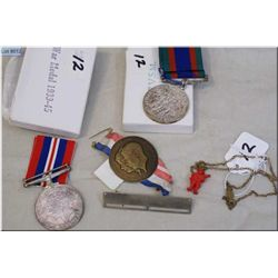 World War II Service Medals ( 2 ) complete w/orig boxes & ribbons  1939-1945 - 1937 Coronation Pin K