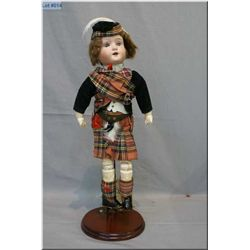 "Simon & Halbig Circa 1909 Original Hand Painted Bisque Doll w/jointed composition body, 14"" ( marked"