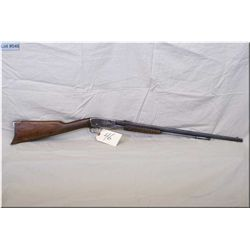"Remington mod 12C .22 LR tube fed pump act Rifle w/24"" oct bbl [ fading blue, note top reciever tapp"